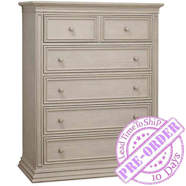 Sorelle Furniture Monterey 5 Drawer Chest - Heritage Fog