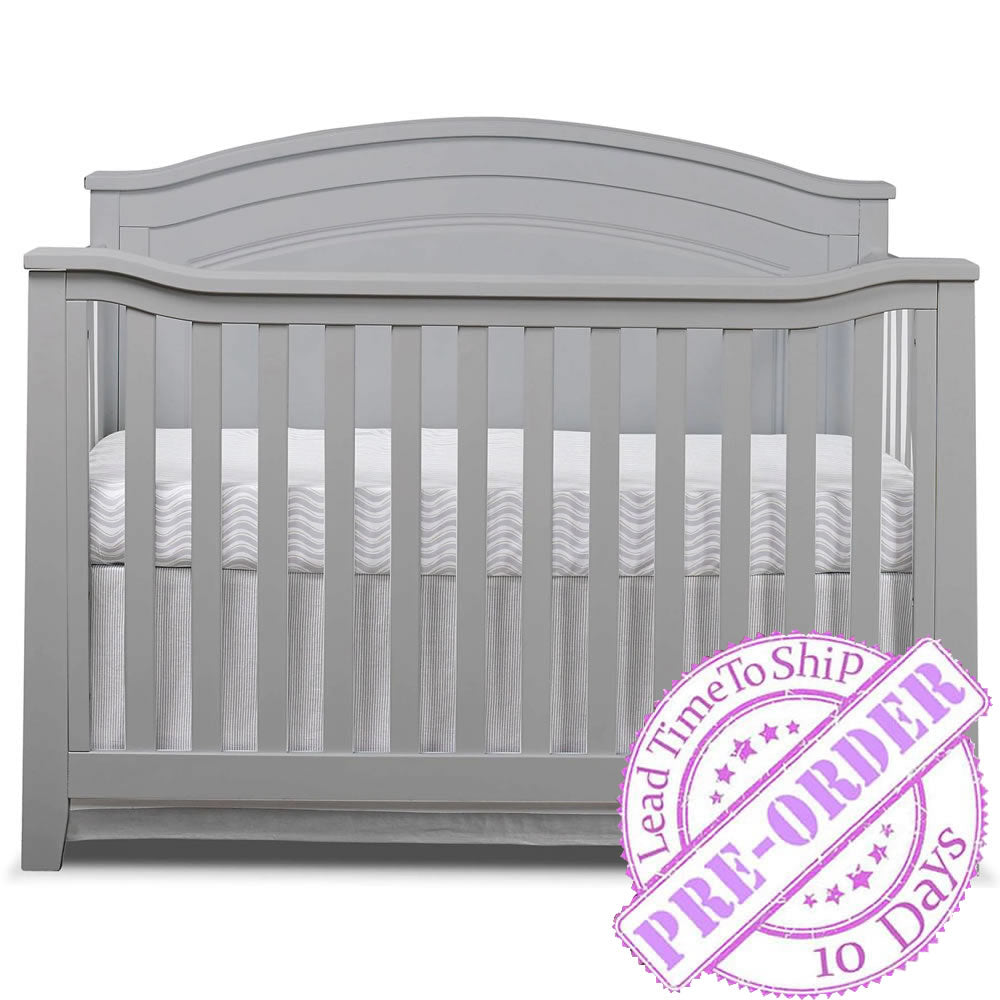 Sorelle Furniture Berkley Round Top Panel Crib - Gray