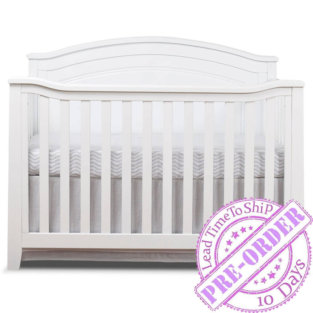 Sorelle Furniture Berkley Round Top Panel Crib - White
