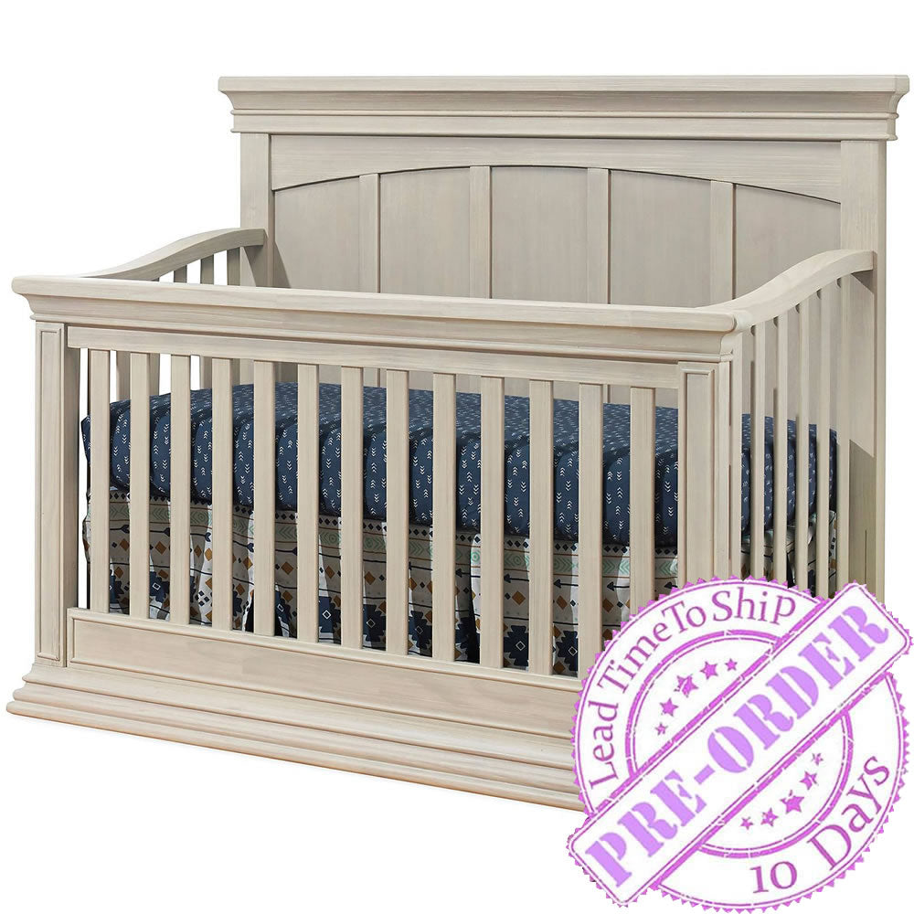 Sorelle Furniture Monterey Flat Top Convertible Crib - Heritage Fog