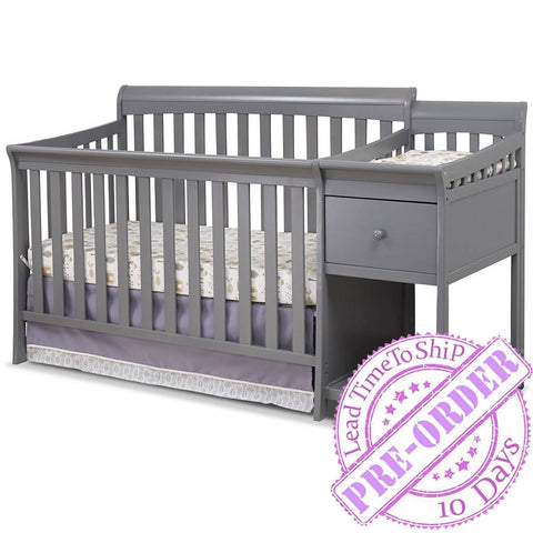 Sorelle Furniture Florence Convertible Crib and Changer - Gray