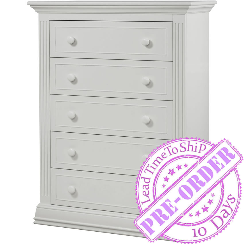 Sorelle Furniture Providence 5 Drawer Chest - White