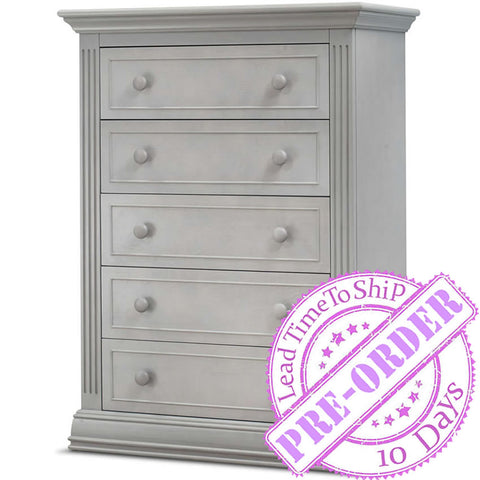 Sorelle Furniture Providence 5 Drawer Chest - Stone Gray