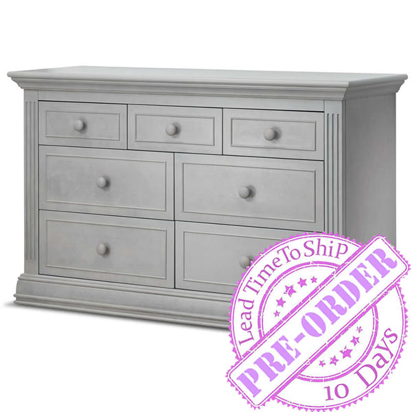 Sorelle Furniture Providence 7-Drawer Double Dresser - Stone Gray
