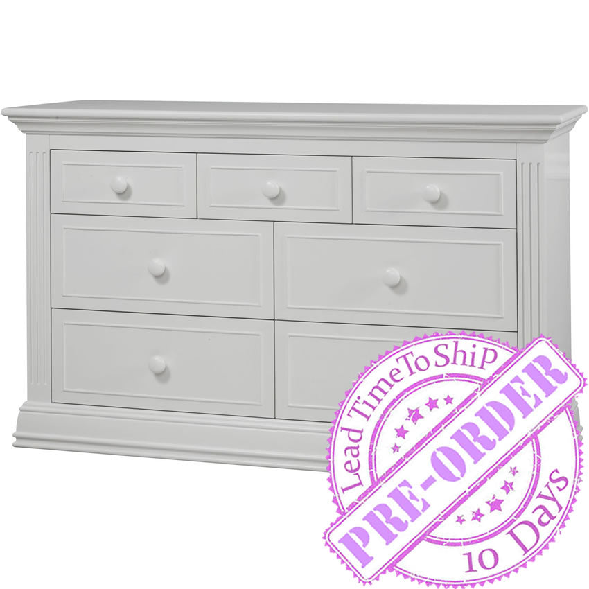 Sorelle Furniture Providence 7-Drawer Double Dresser - White