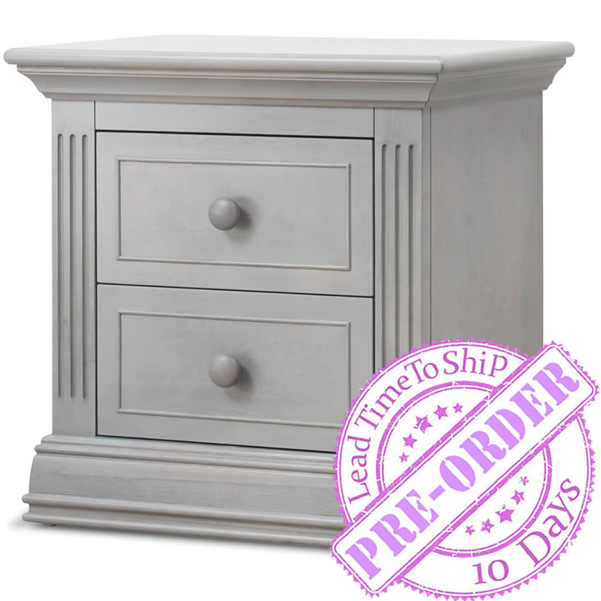 Sorelle Furniture Providence Nightstand - Stone Gray