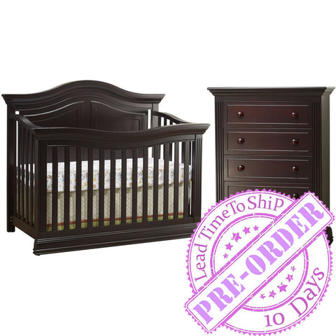 Sorelle Furniture Providence Nursery Set - Dark Espresso