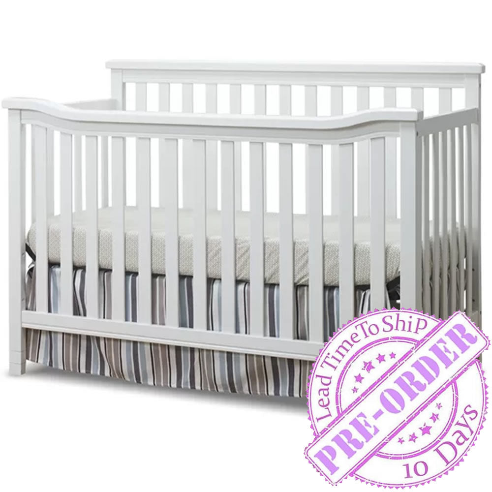 Sorelle Furniture Berkley Flat Top Crib in White