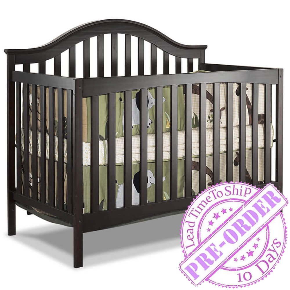 Sorelle Furniture Lynn Convertible Crib in Espresso