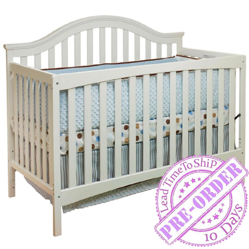 Sorelle Furniture Lynn Convertible Crib in White