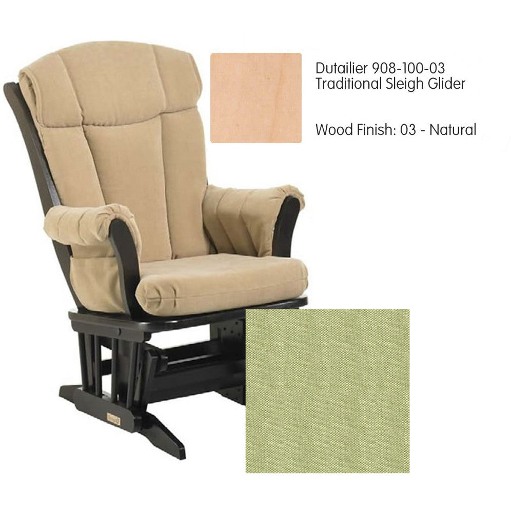 Dutailier 908 Series Maple Glider in Natural With Cushion 0496