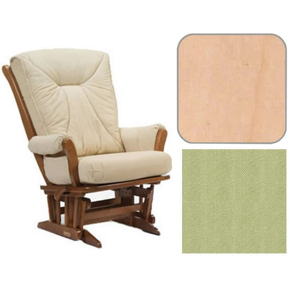 Dutailier Grand Chair Multiposition Reclining 912 Glider in Natural W/Cushion 0496