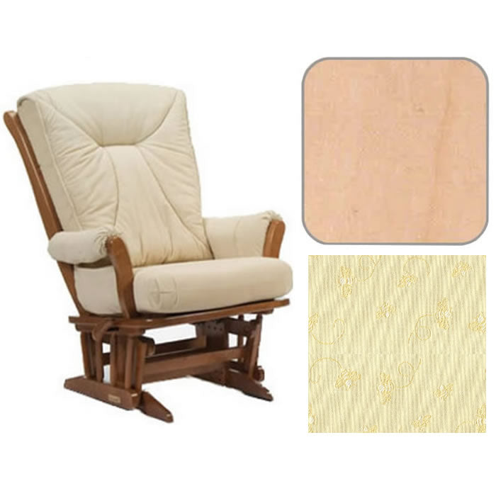 Dutailier Grand Chair Multiposition Reclining 912 Glider in Natural W/Cushion 4029