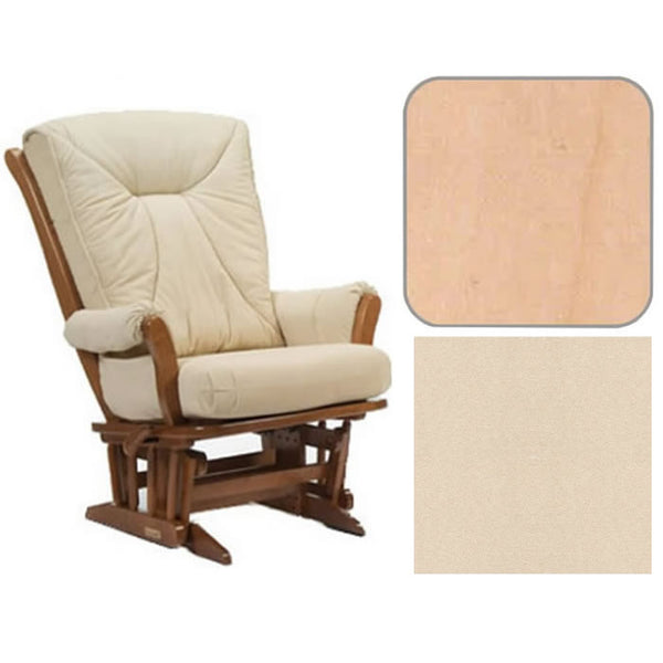 Dutailier Grand Chair Multiposition Reclining 912 Glider in Natural W/Cushion 4039
