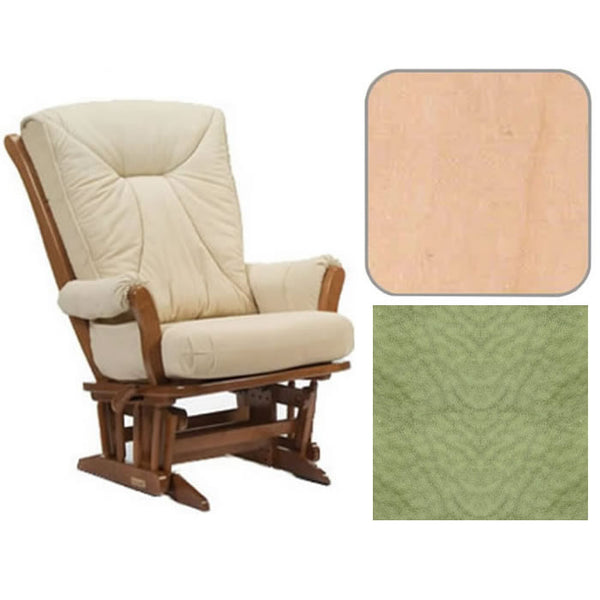 Dutailier Grand Chair Multiposition Reclining 912 Glider in Natural W/Cushion 4088