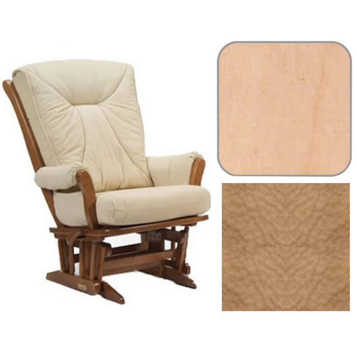Dutailier Grand Chair Multiposition Reclining 912 Glider in Natural W/Cushion 4089