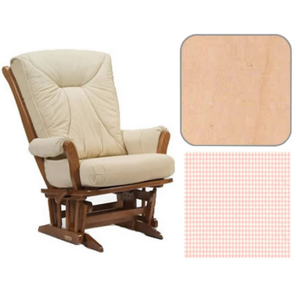 Dutailier Grand Chair Multiposition Reclining 912 Glider in Natural W/Cushion 5049