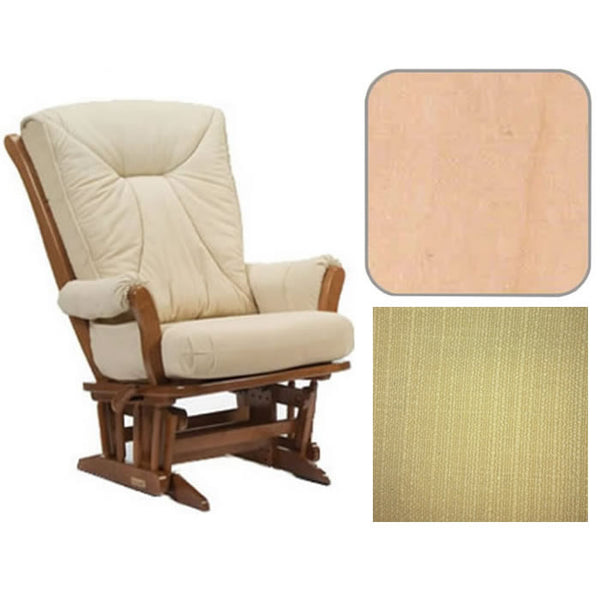 Dutailier Grand Chair Multiposition Reclining 912 Glider in Natural W/Cushion 5115