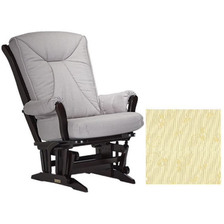 Dutailier Grand Chair Multiposition Reclining 912 Glider in Espresso W/Cushion 4029