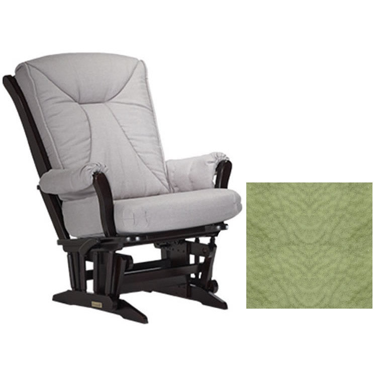 Dutailier Grand Chair Multiposition Reclining 912 Glider in Espresso W/Cushion 4088