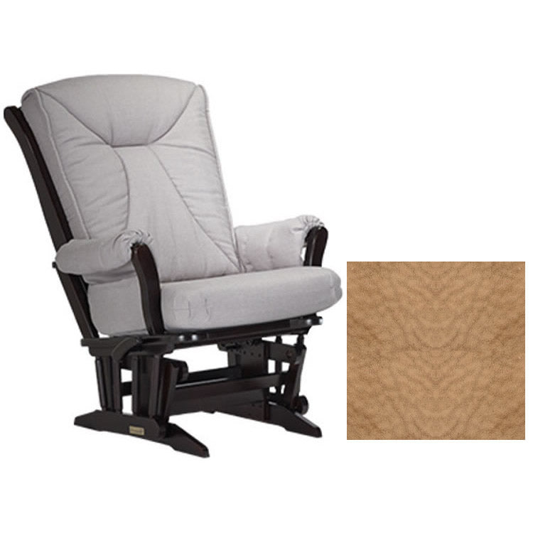 Dutailier Grand Chair Multiposition Reclining 912 Glider in Espresso W/Cushion 4089