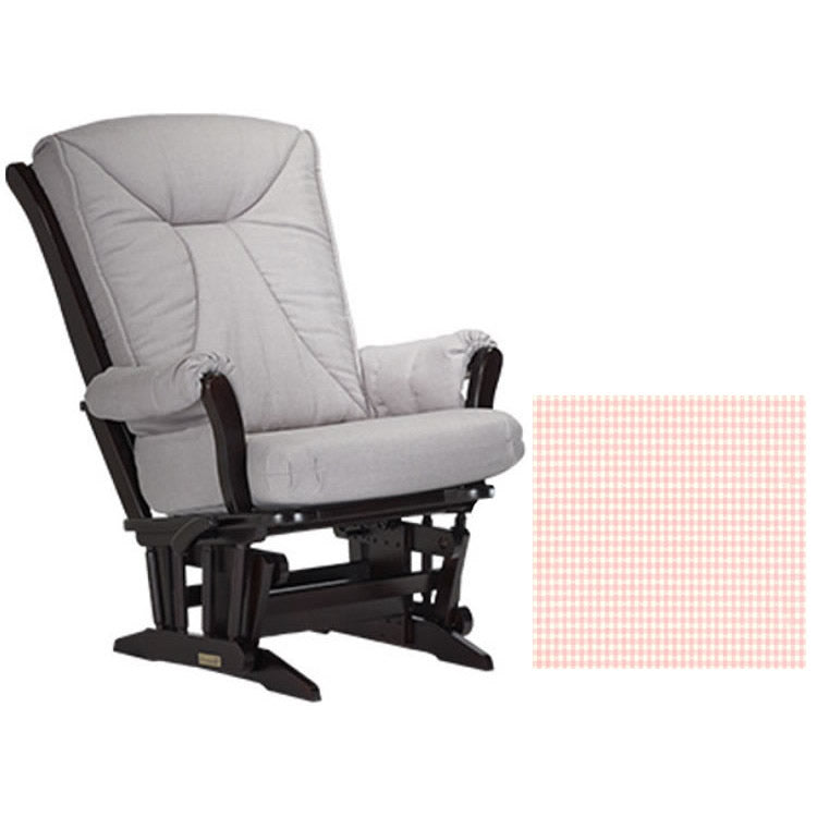 Dutailier Grand Chair Multiposition Reclining 912 Glider in Espresso W/Cushion 5049