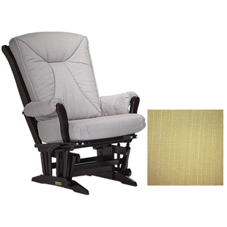 Dutailier Grand Chair Multiposition Reclining 912 Glider in Espresso W/Cushion 5115