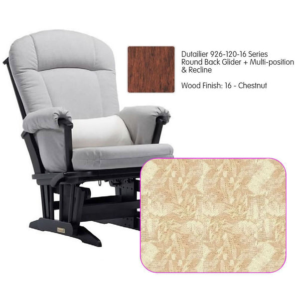 Dutailier 926 Series Multiposition Reclining Glider in Chestnut - Cushion 0424