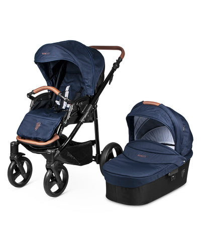 Venicci Gusto Stroller with Bassinet - Navy/Black