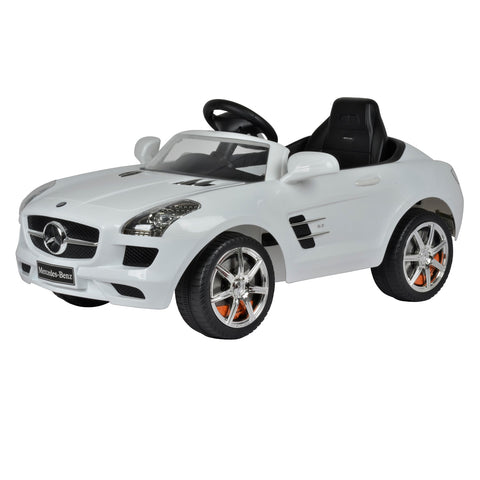 Mercedes SLS 6V Kids Ride On Battery Powered Wheels Car - White