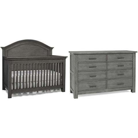 Dolce Babi Lucca 2 Piece Nursery Set in Weathered Grey