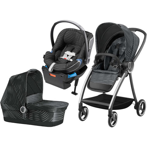 GB 3 in 1 Maris Plus Stroller - Lux Black