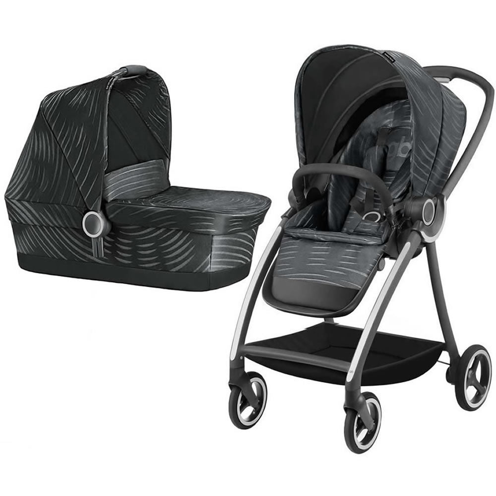 GB Maris Plus Stroller with CarryCot - Lux Black