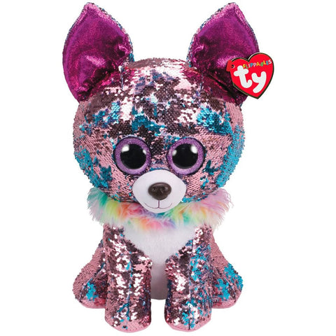"TY Flippables Sequin Plush 16"" - Yappy"