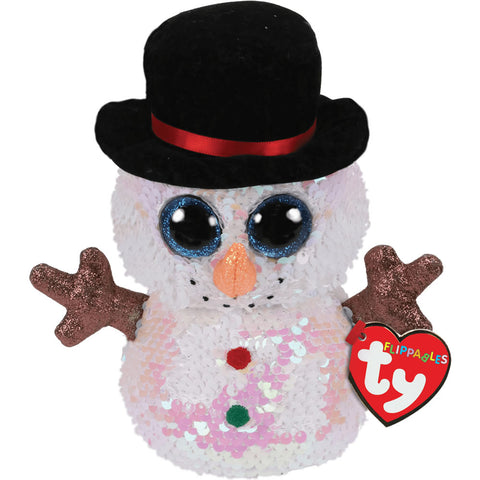 "TY Flippables Sequin Snowman 7"" - Melty"