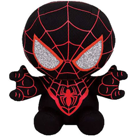"TY Marvel Beanie Babies 6"" Spider Man - Miles Morales"