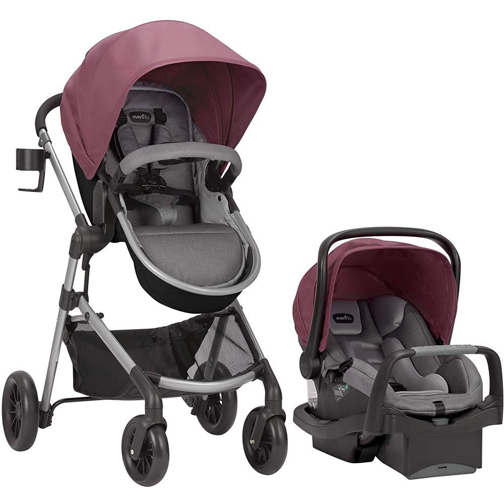 Evenflo Pivot Modular Travel System, Dusty Rose