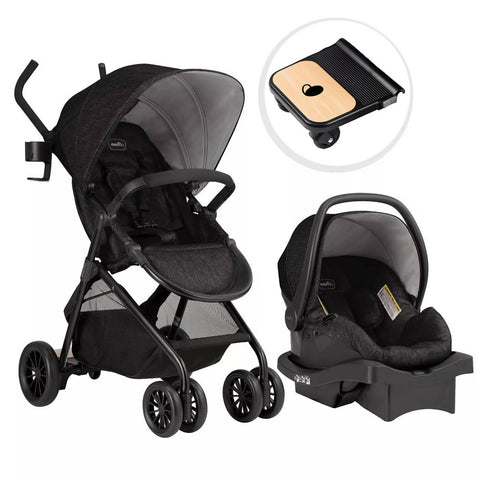 Evenflo Sibby TS with LiteMax 35 Car Seat and Ride-Along Board, Charcoal
