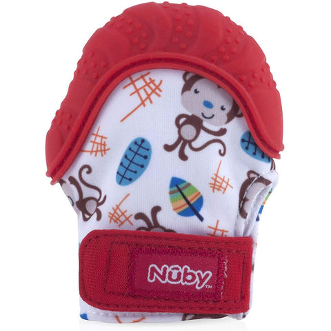 Nuby Happy Hands Teething Mitten - Red