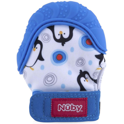 Nuby Happy Hands Teething Mitten - Blue