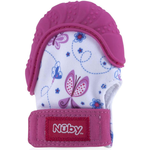 Nuby Happy Hands Teething Mitten - Pink