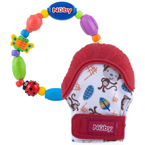 Nuby Happy Hand Soothing Mitten with Bugaloop Teether