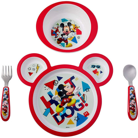 Disney Baby Mickey Mouse 4-Piece Feeding Set
