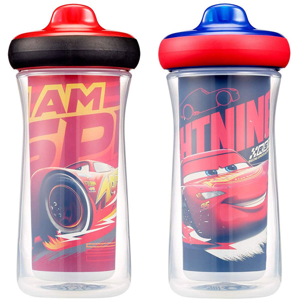 The First Years Disney/Pixar Insulated Hard Spout Sippy Cups - Cars