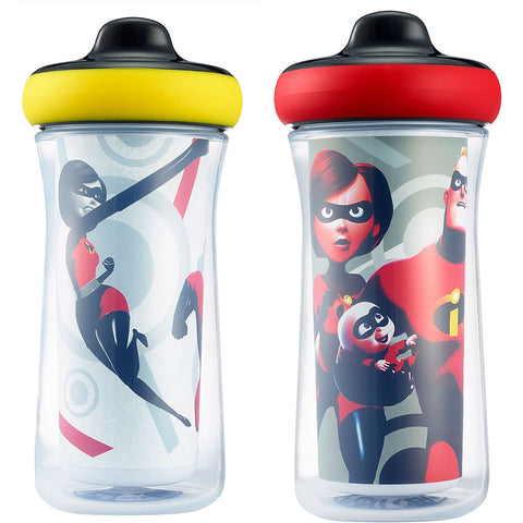 Disney/Pixar Incredibles 2 Insulated Hard Spout Sippy Cups 9oz - 2 Pack