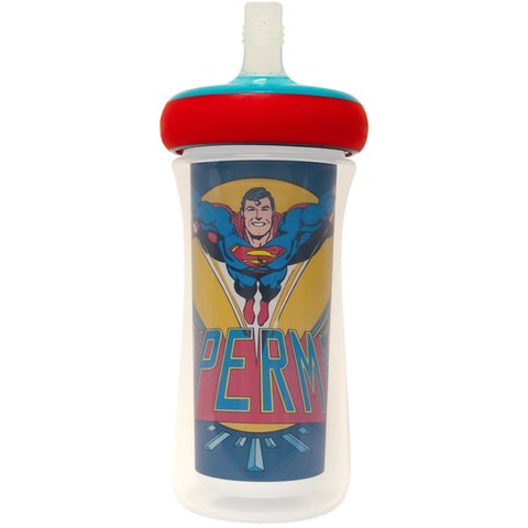 DC Insulated Straw Cup 9 Oz, Superman