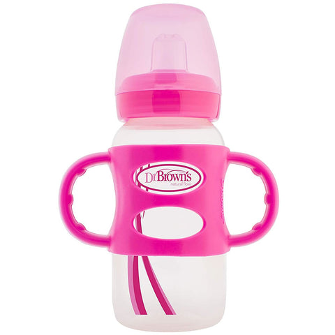 Dr. Brown's Milestones Sippy Bottle with Handle, Pink