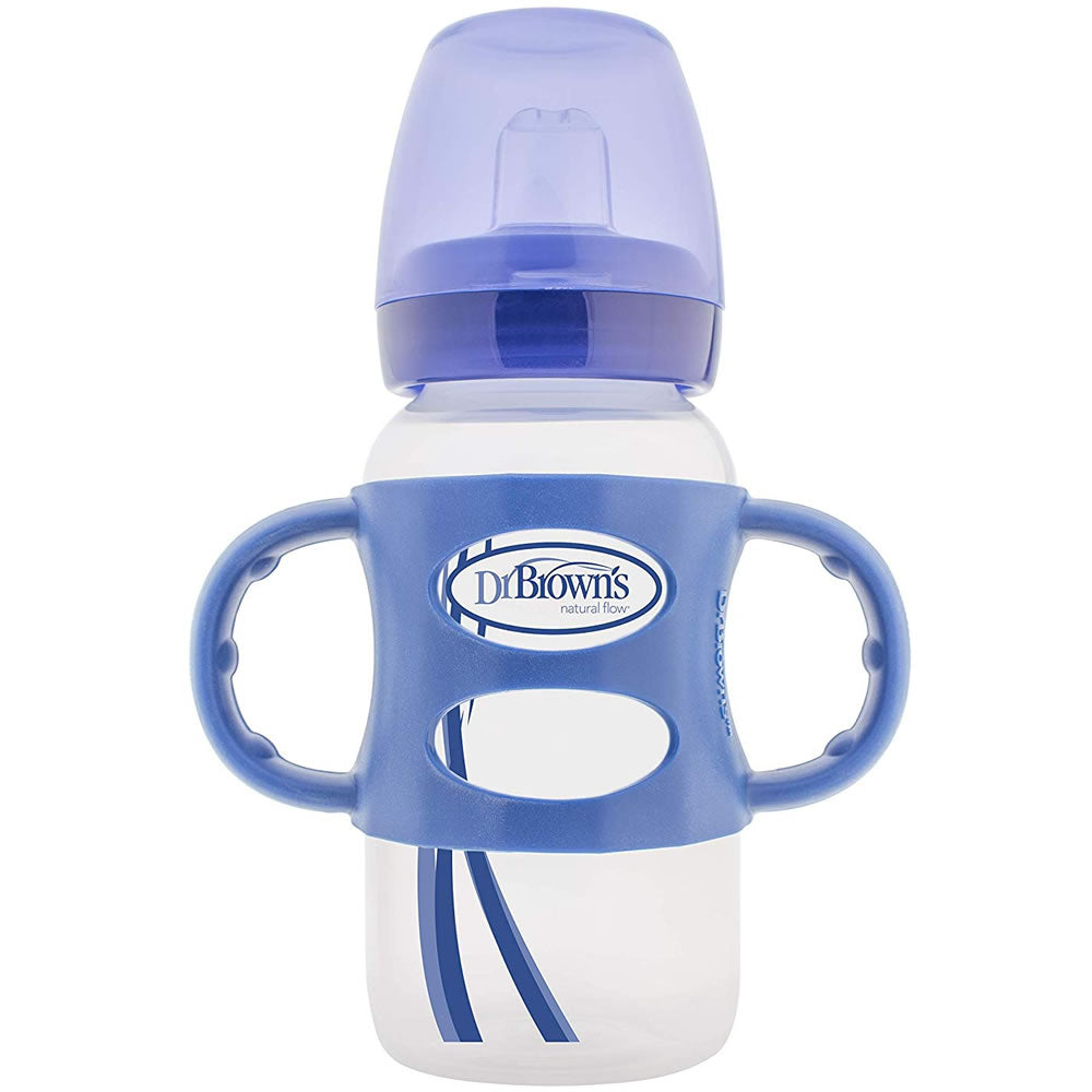 Dr. Brown's Milestones Sippy Bottle with Handle, Blue