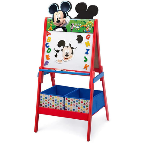 Delta Children Wooden Double Sided Activity Easel, Mickey Mouse