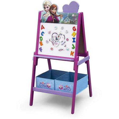 Delta Children Wooden Double Sided Activity Easel, Frozen